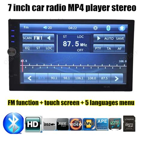 Sarung Universal Jepit Size 7 Inchi universal 2 din size auxin 7 inch touch screen car radio bluetooth player mp4 mp5 hd support