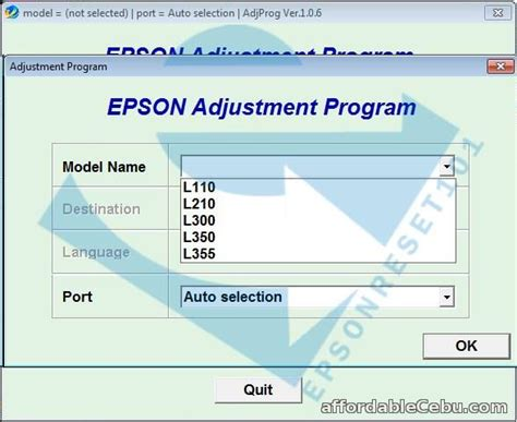 software adjustment resetter program epson t60 epson adjustment program resetter for sale outside cebu
