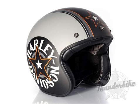 Motorradhelm Verzieren by Harley Davidson Helm Grey Retro 3 4 Harley Davidson