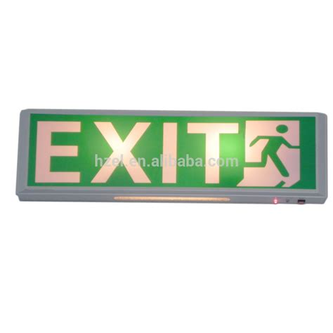 exit sign light box ce rohs zhuiming emergency lighting battery operated led