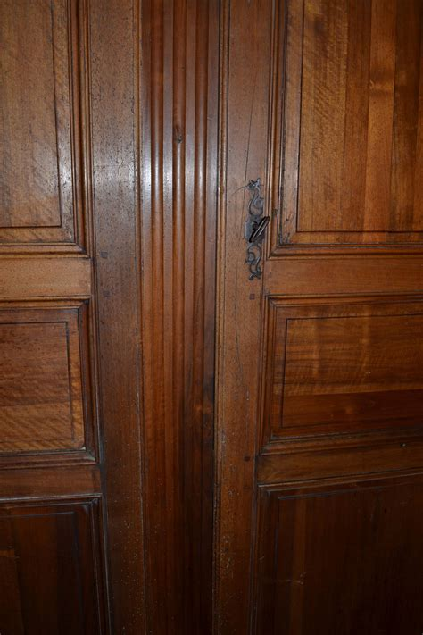 armoire door hardware antique walnut french armoire doors with original frame crown and hardware for sale