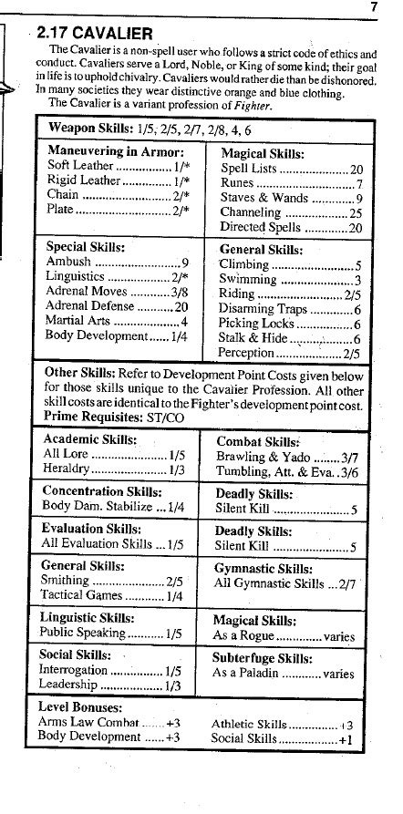 Rolemaster Companion 3 fatal friends rolemaster