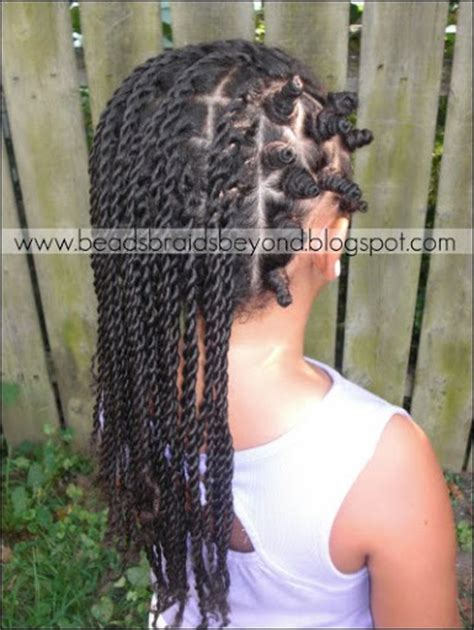 sister twists hairstyles beads braids and beyond sister twists with bantu knots