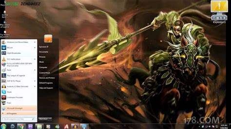 themes for windows 7 league of legends windows 7 theme for league of legends with sound youtube