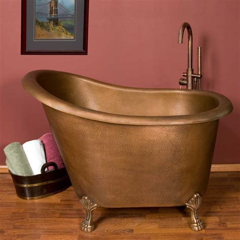 bathtubs ebay 49 quot abbey copper slipper clawfoot soaking tub no