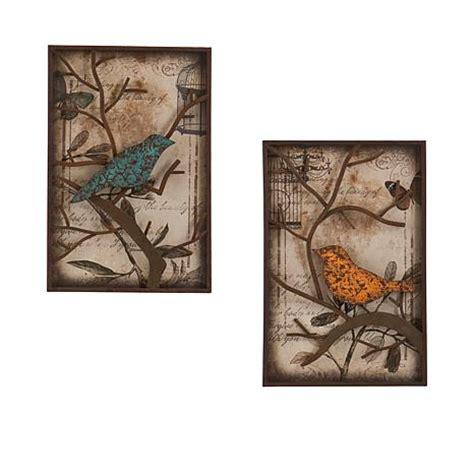 2piece vintage metal bird wall art panel frame sculpture designer home decor set ebay 2 piece panel wall art set bird 7230408 hsn