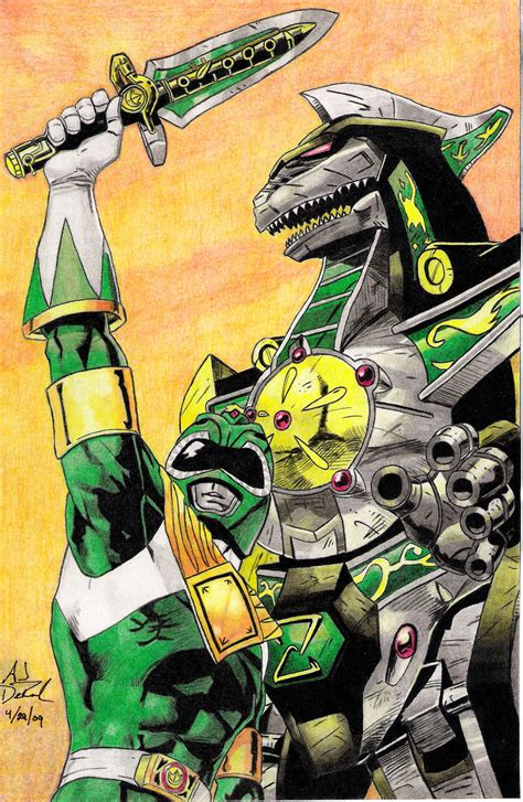 dragonzord tattoo power rangers green ranger and dragonzord by 11thdoctorwho
