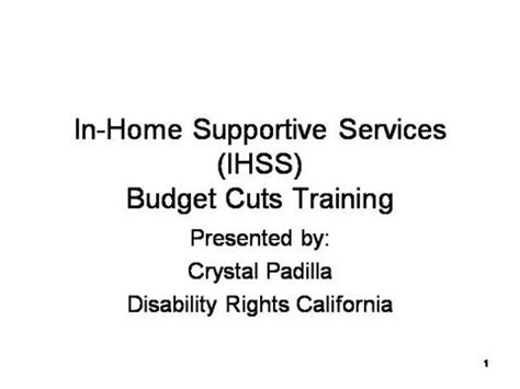 in home supportive services ihss budge authorstream