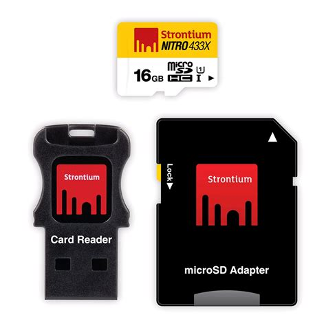 strontium nitro 433x microsdhc card 3 in 1 16gb 65mb s