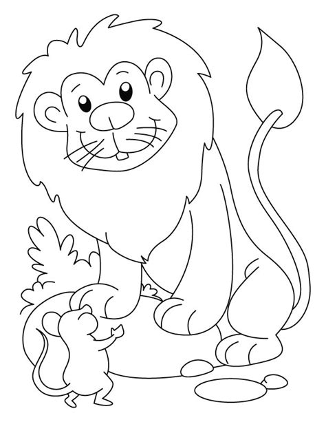 coloring pages the lion and the mouse free coloring pages of lion and mouse
