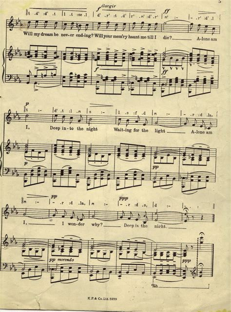 song free sheet