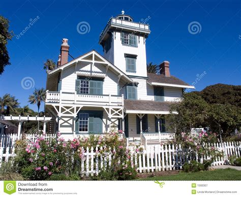 Outdoor Shelter Plans White Victorian House With Picket Fence Stock Image