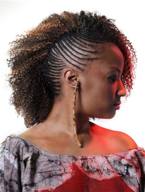 Braided Curly Hairstyle For Black by Black Braided Mohawk Hairstyles 10