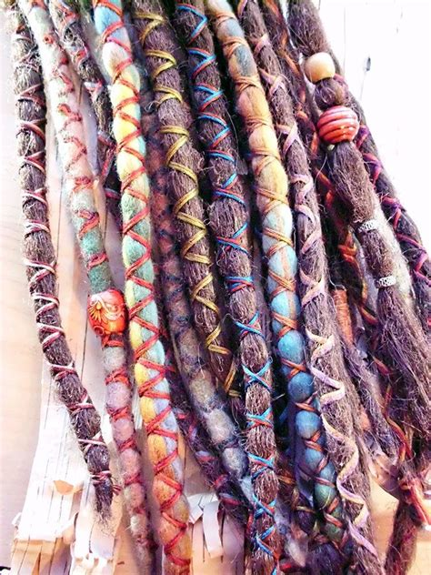 dreadlock wrapped around extensions for sale 10 custom dreads hair wraps beads bohemian hippie