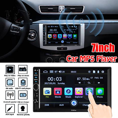 din touch car mp player bluetooth stereo fm radio