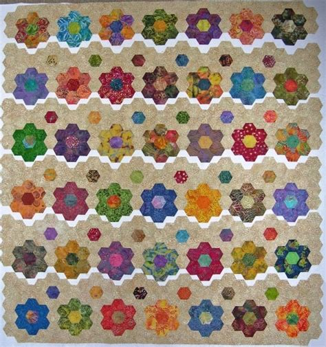quilt pattern hexagon hexagon quilt hexie love pinterest