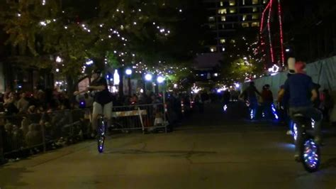when is the parade of lights fort worth dfw unicycle club fort worth parade of lights 2012 youtube
