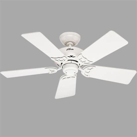 hunter ceiling fans home depot hunter hudson 42 in indoor white ceiling fan 52065 the
