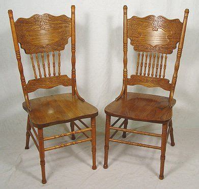 Press Back Chair by 128 Set Of 6 Golden Oak Pressed Back Dining Chairs Lot 128