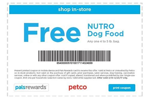 free pet food coupons printable
