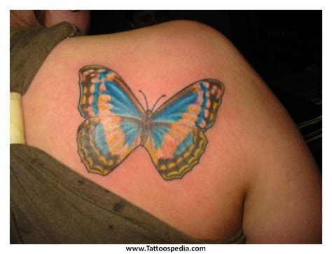 Butterfly Tattoos Shoulder Blade 5 Butterfly Tattoos On Shoulder Blade