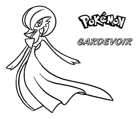 pokemon coloring pages gardevoir free coloring pages of pokemon gardevoir