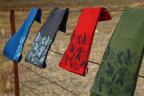 Wellington Pashmina Scarf Merino Wool Scarf With Korul Pohutukawa Print By