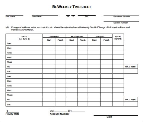 weekly timesheet template 15 free download in pdf