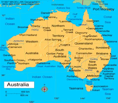 map of australia with major cities major cities in australia map images