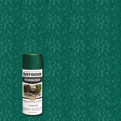rust oleum stops rust 12 oz green protective enamel hammered spray paint 6 pack 7211830