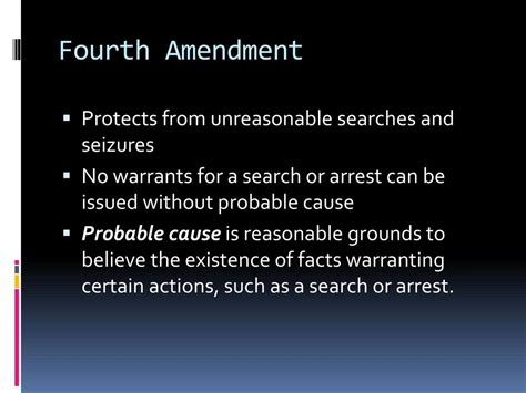 The Fifth Amendment Protects From Unreasonable Search And Seizure By The Government Ppt Introduction To Criminal Justice Powerpoint Presentation Id 150130