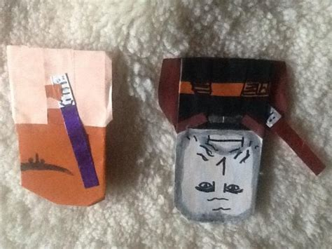 Origami Count Dooku - jonahs count dooku and mae windu origami yoda