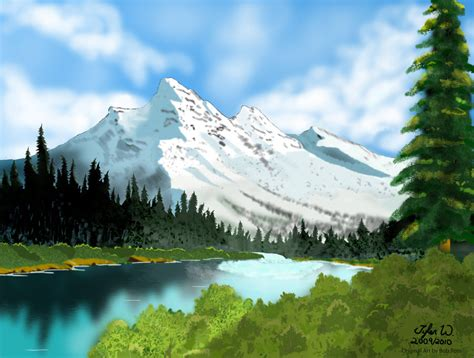 bob ross painting bushes bob ross digital painting by tylermirage on deviantart