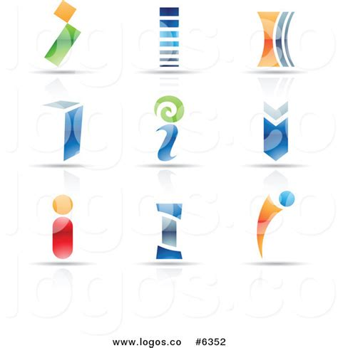 free logo design without registration royalty free clip art vector logos of colorful letter i