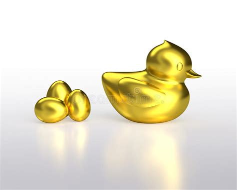 golden house miniature gold toy stock illustration golden eggs and gold duck stock images image 36354534