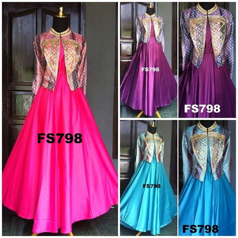 Kirana Maxi Songket Cardi maxi dress songket payet mode fatin fs798 butik