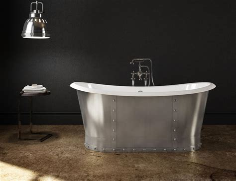 stainless steel bathtub cast iron freestanding bathtub stainless steel skirt