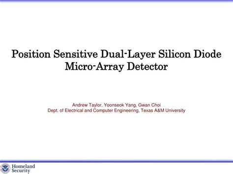 position sensitive diode ppt position sensitive dual layer silicon diode micro arrays detector powerpoint presentation