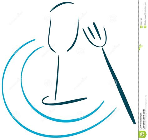 Food Logo With Glass And Fork Isolated Stock Vector   Image: 50913125