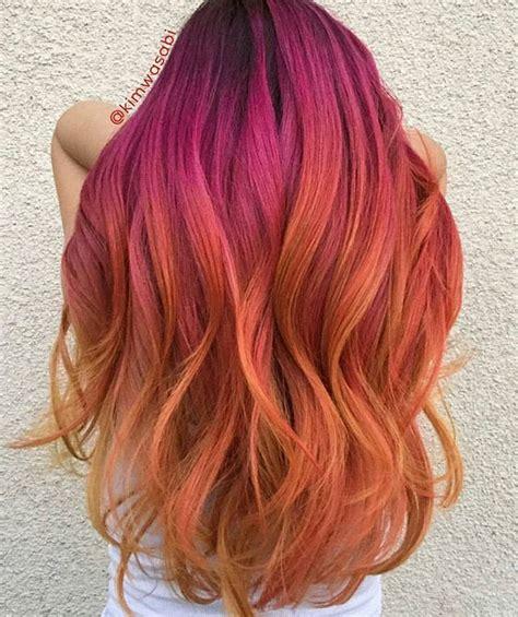 sunset hair color the 25 best sunset hair ideas on ombre hair