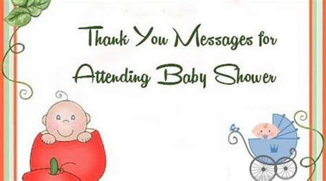 thank you for attending baby shower thank you messages for attending baby shower