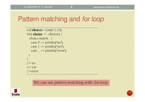 scala pattern matching contains scala pattern matching concepts and implementations