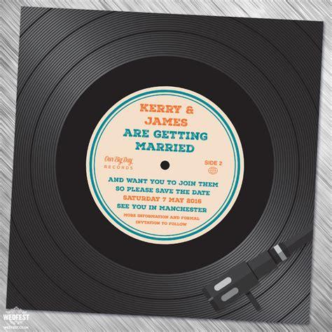 record label wedding invitations vinyl record wedding invites save the dates wedfest