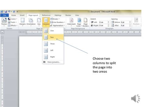 how to make a page how to make simple 4 page leaflet in word 2010