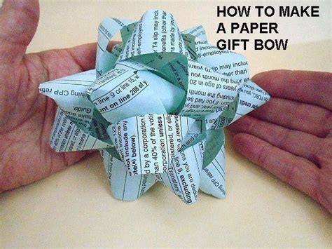 How To Make A Paper Bow - newspaper gift bow 183 how to make a gift bow 183 papercraft