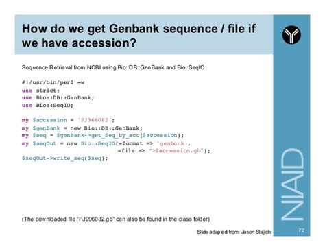 genbank format converter introduction to perl and bioperl