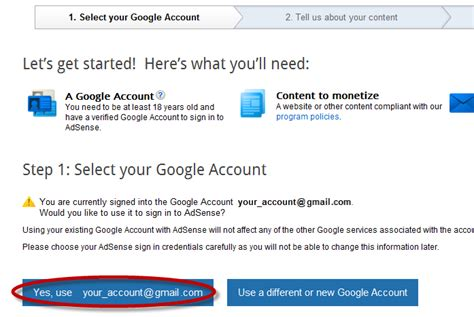 adsense account login how to create google adsense account helplogger