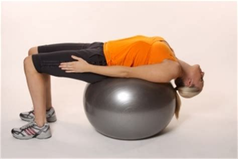 abdominal stretch  fitball ibodz  personal trainer