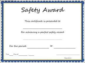 awards template safety award certificate template sle templates