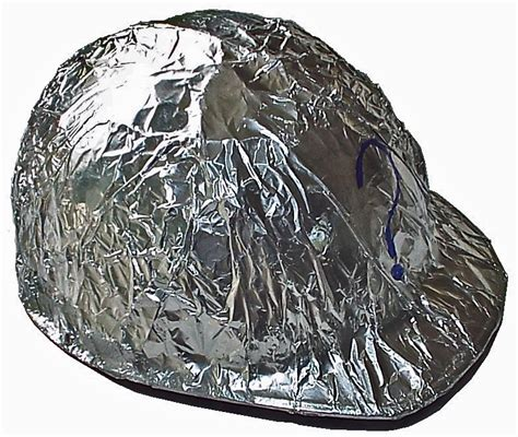 Aluminium Foil Hati my tin foil hat will protect me